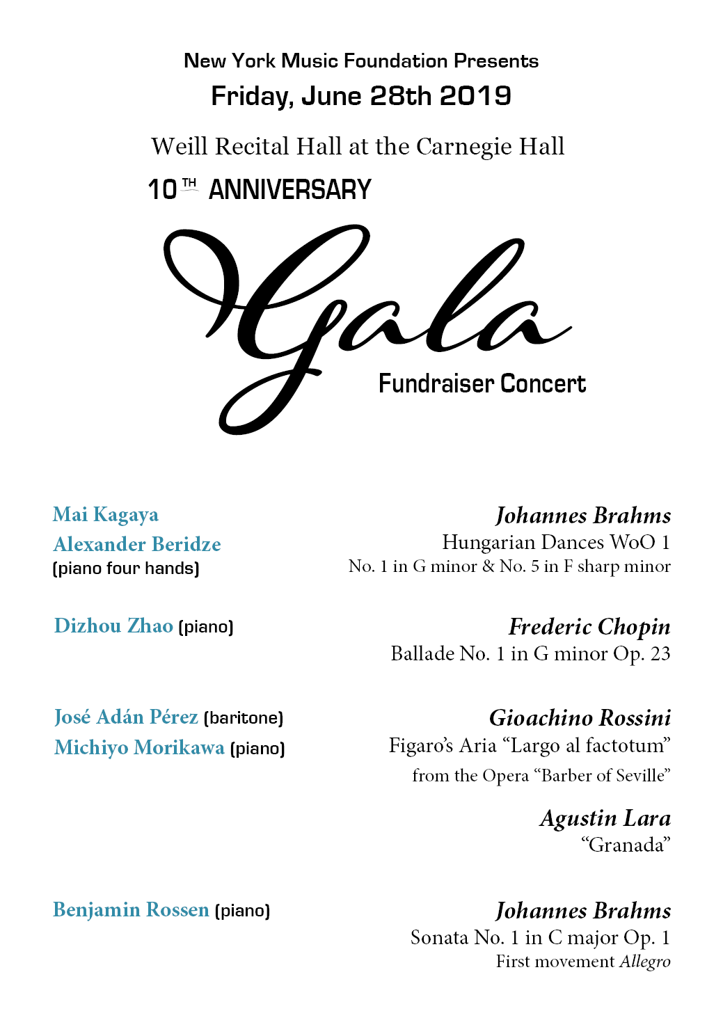 Concerts | 2019 New York Piano Festival and Competition